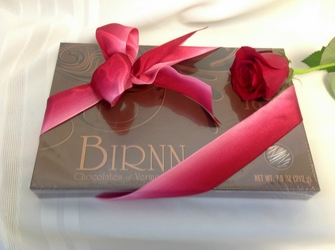 Add a 16 piece box of - Birnn of Vermont Truffles from Maplehurst Florist, local flower shop in Essex Junction