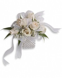 Spray Rose Wrist Corsage from Maplehurst Florist, local flower shop in Essex Junction