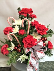 Candy Cane Delight from Maplehurst Florist, local flower shop in Essex Junction
