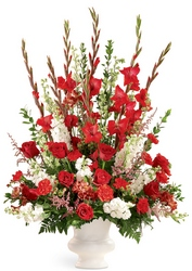 Declaration Altar Arrangement from Maplehurst Florist, local flower shop in Essex Junction