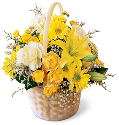 Flourishing Garden Basket from Maplehurst Florist, local flower shop in Essex Junction