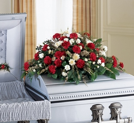 Sincerity Casket Spray from Maplehurst Florist, local flower shop in Essex Junction