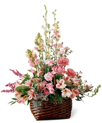 Exquisite Memorial Basket from Maplehurst Florist, local flower shop in Essex Junction
