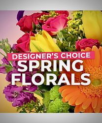 Spring Flowers -Designers Choice from Maplehurst Florist, local flower shop in Essex Junction