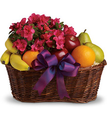 Fruits and Blooms Basket from Maplehurst Florist, local flower shop in Essex Junction