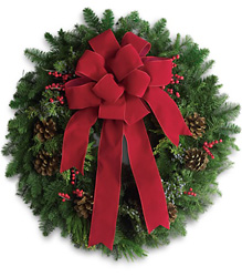 Classic Holiday Wreath from Maplehurst Florist, local flower shop in Essex Junction