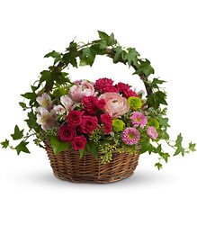 Romantic Basket from Maplehurst Florist, local flower shop in Essex Junction