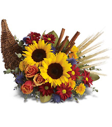 Classic Cornucopia from Maplehurst Florist, local flower shop in Essex Junction