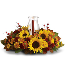 Sunflower Centerpiece from Maplehurst Florist, local flower shop in Essex Junction