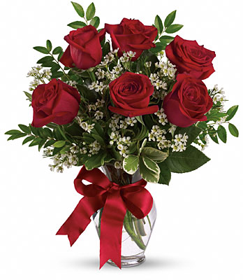Bouquet of 6 Lovely Roses -