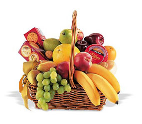 Condolence Fruit Basket from Maplehurst Florist, local flower shop in Essex Junction
