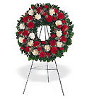 Hope and Honor Wreath from Maplehurst Florist, local flower shop in Essex Junction