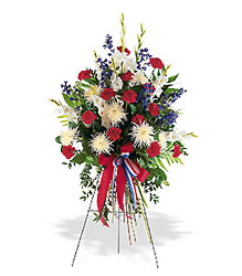 Patriotic Spirit Spray from Maplehurst Florist, local flower shop in Essex Junction