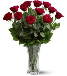 A Dozen Red Roses Arranged from Maplehurst Florist, local flower shop in Essex Junction