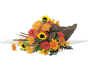 Captivating Cornucopia from Maplehurst Florist, local flower shop in Essex Junction