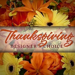 Designers Choice for Thanksgiving.  from Maplehurst Florist, local flower shop in Essex Junction